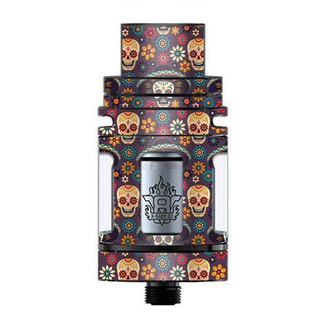 Sugar Skulls Sombrero Day Of The Dead TFV8 X-baby Tank Smok Skin
