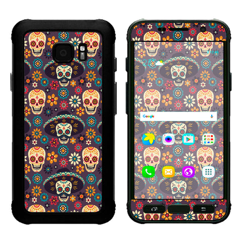 Sugar Skulls Sombrero Day Of The Dead Samsung Galaxy S7 Active Skin