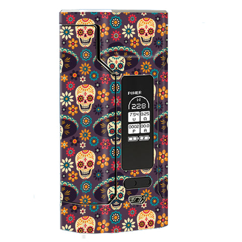 Sugar Skulls Sombrero Day Of The Dead Wismec Predator 228W Skin