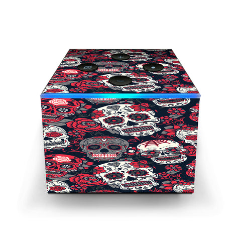 Sugar Skulls Red Black Dia De Los Amazon Fire TV Cube Skin