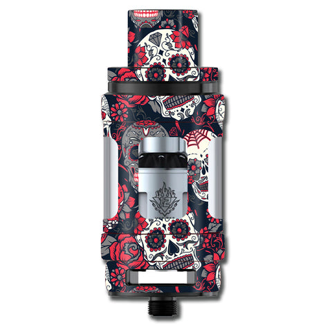 Sugar Skulls Red Black Dia De Los Smok TFV12 Cloud King Beast  Skin