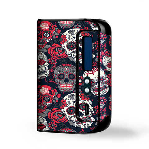 Sugar Skulls Red Black Dia De Los Smok Osub King Skin