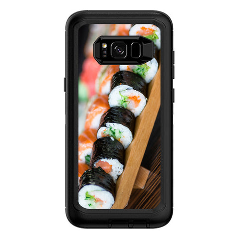 Sushi California Roll Japanese Food  Otterbox Defender Samsung Galaxy S8 Plus Skin