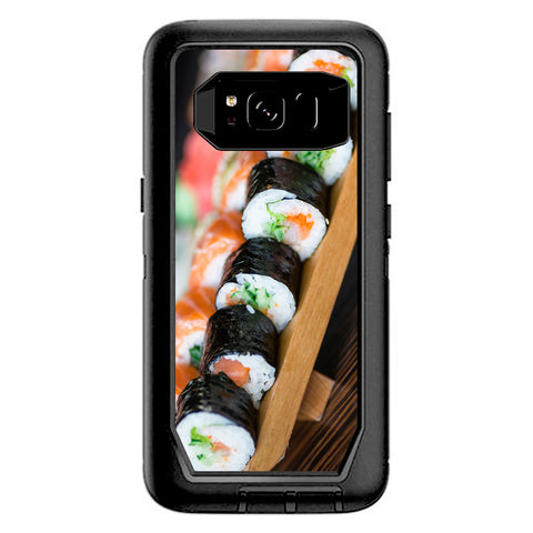Sushi California Roll Japanese Food  Otterbox Defender Samsung Galaxy S8 Skin
