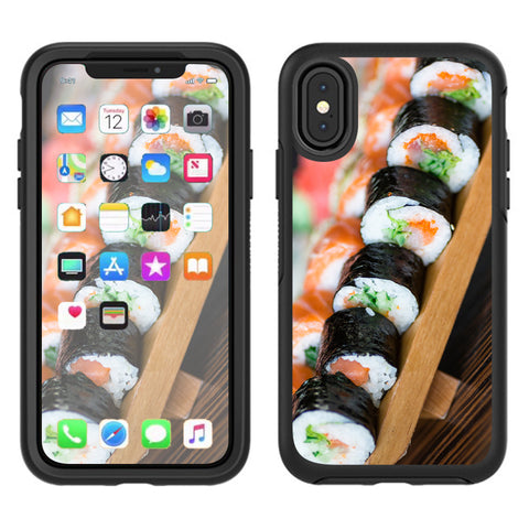 Sushi California Roll Japanese Food  Otterbox Defender Apple iPhone X Skin