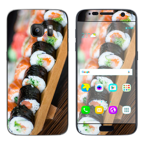 Sushi California Roll Japanese Food  Samsung Galaxy S7 Skin