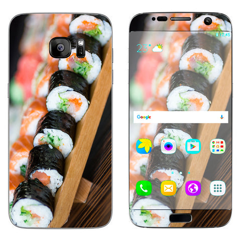 Sushi California Roll Japanese Food  Samsung Galaxy S7 Edge Skin
