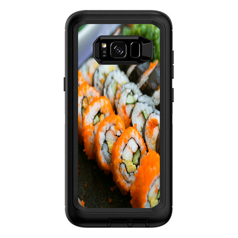Sushi Rolls Eat Foodie Japanese Otterbox Defender Samsung Galaxy S8 Plus Skin