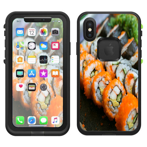 Sushi Rolls Eat Foodie Japanese Lifeproof Fre Case iPhone X Skin