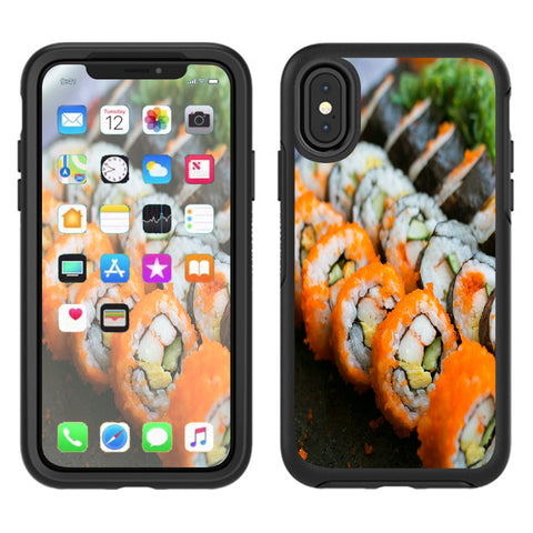 Sushi Rolls Eat Foodie Japanese Otterbox Defender Apple iPhone X Skin