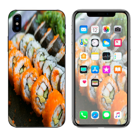 Sushi Rolls Eat Foodie Japanese Apple iPhone X Skin