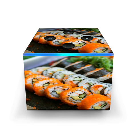 Sushi Rolls Eat Foodie Japanese Amazon Fire TV Cube Skin