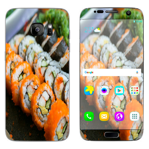 Sushi Rolls Eat Foodie Japanese Samsung Galaxy S7 Edge Skin