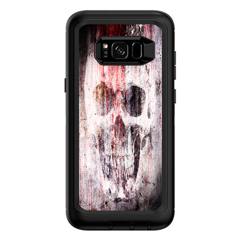 Tattered Skull Blood Skull Dead Otterbox Defender Samsung Galaxy S8 Plus Skin