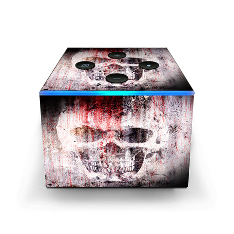 Tattered Skull Blood Skull Dead Amazon Fire TV Cube Skin