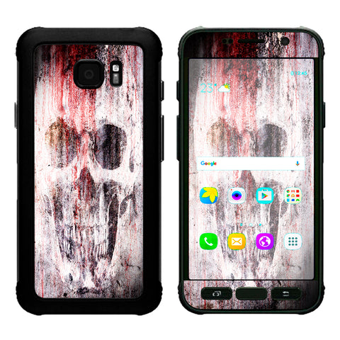 Tattered Skull Blood Skull Dead Samsung Galaxy S7 Active Skin