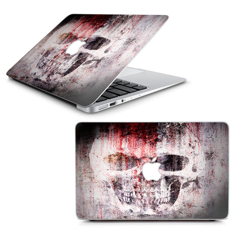 "Tattered Skull Blood Skull Dead Macbook Air 13"" A1369 A1466 Skin"