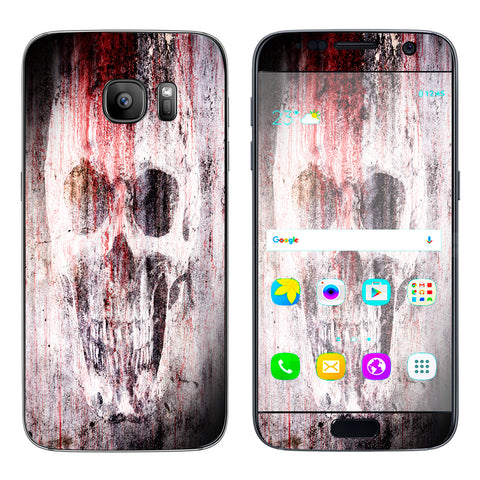 Tattered Skull Blood Skull Dead Samsung Galaxy S7 Skin