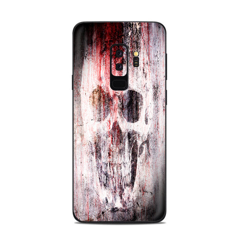Tattered Skull Blood Skull Dead Samsung Galaxy S9 Plus Skin