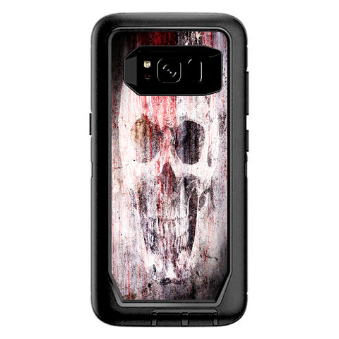 Tattered Skull Blood Skull Dead Otterbox Defender Samsung Galaxy S8 Skin