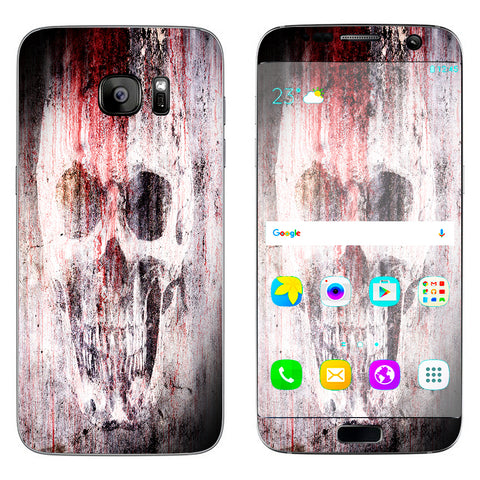 Tattered Skull Blood Skull Dead Samsung Galaxy S7 Edge Skin