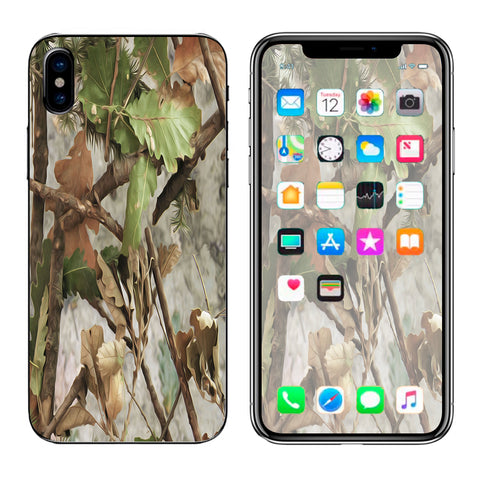 Tree Camo Real Oak Apple iPhone X Skin