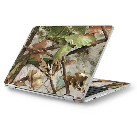 "Tree Camo Real Oak Asus Chromebook Flip 12.5"" Skin"