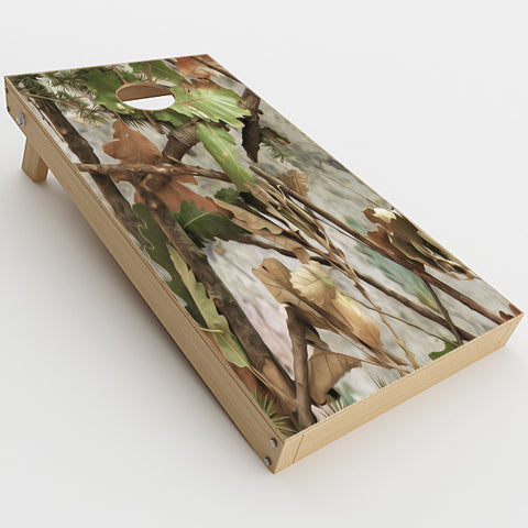 Tree Camo Real Oak  Cornhole Game Board (2 pcs.) Skin