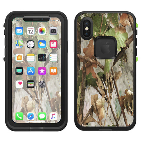 Tree Camo Real Oak Lifeproof Fre Case iPhone X Skin