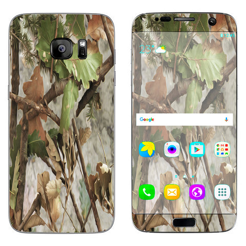 Tree Camo Real Oak Samsung Galaxy S7 Edge Skin