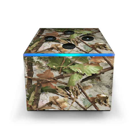 Tree Camo Real Oak Amazon Fire TV Cube Skin