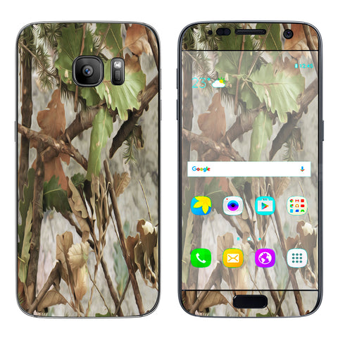 Tree Camo Real Oak Samsung Galaxy S7 Skin