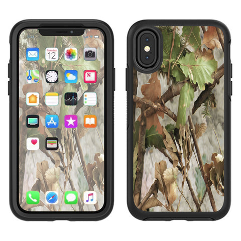 Tree Camo Real Oak Otterbox Defender Apple iPhone X Skin
