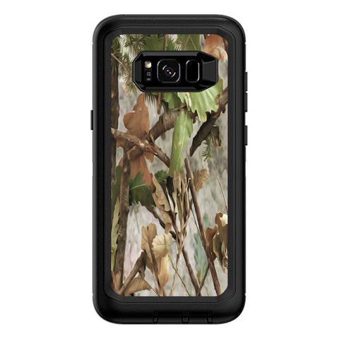 Tree Camo Real Oak Otterbox Defender Samsung Galaxy S8 Plus Skin