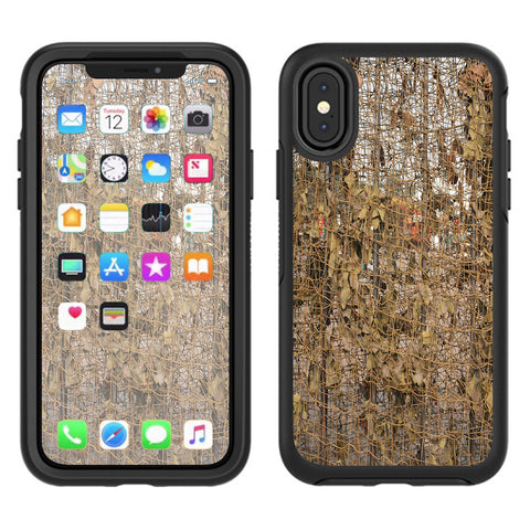 Tree Camo Net Camouflage Military Otterbox Defender Apple iPhone X Skin