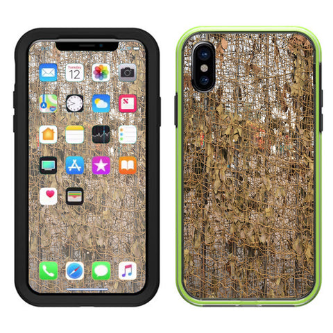 Tree Camo Net Camouflage Military Lifeproof Slam Case iPhone X Skin