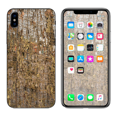 Tree Camo Net Camouflage Military Apple iPhone X Skin