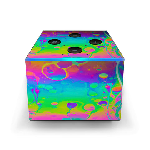 Trippy Tie Die Colors Dripping Lava Amazon Fire TV Cube Skin