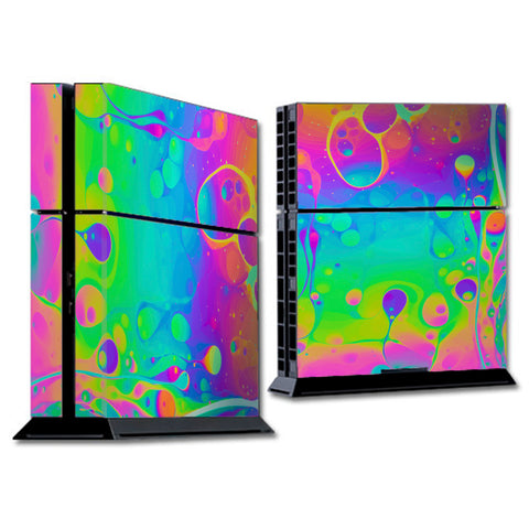 Trippy Tie Die Colors Dripping Lava Sony Playstation PS4 Skin