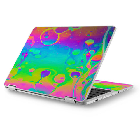 "Trippy Tie Die Colors Dripping Lava Asus Chromebook Flip 12.5"" Skin"