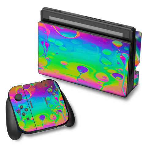 Trippy Tie Die Colors Dripping Lava Nintendo Switch Skin