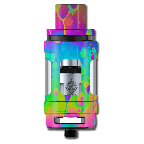 Trippy Tie Die Colors Dripping Lava Smok TFV12 Cloud King Beast  Skin