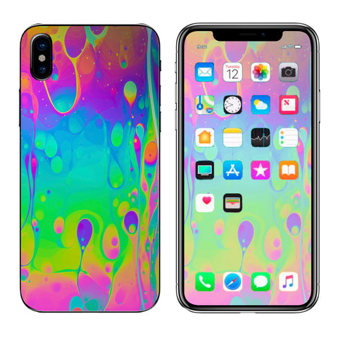 Trippy Tie Die Colors Dripping Lava Apple iPhone X Skin