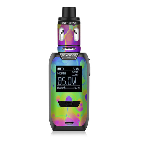 Trippy Tie Die Colors Dripping Lava Vaporesso Revenger Mini 85w Skin