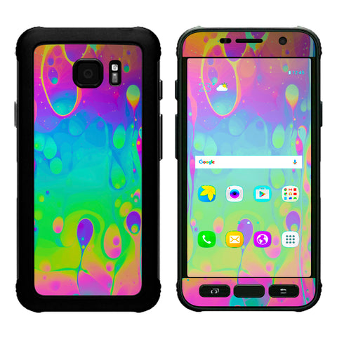 Trippy Tie Die Colors Dripping Lava Samsung Galaxy S7 Active Skin
