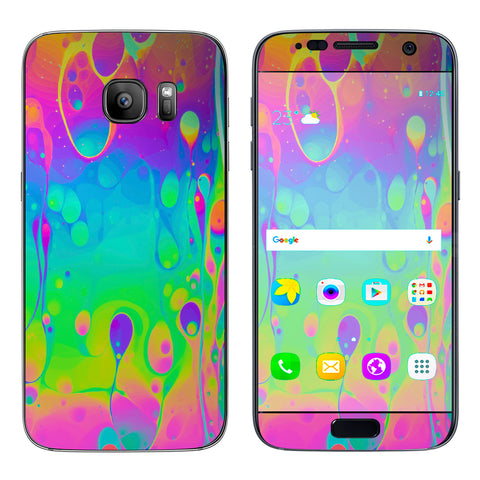 Trippy Tie Die Colors Dripping Lava Samsung Galaxy S7 Skin