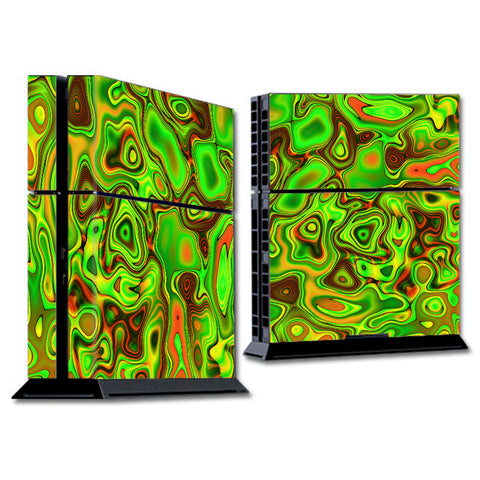 Green Glass Trippy Psychedelic Sony Playstation PS4 Skin