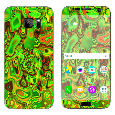 Green Glass Trippy Psychedelic Samsung Galaxy S7 Edge Skin
