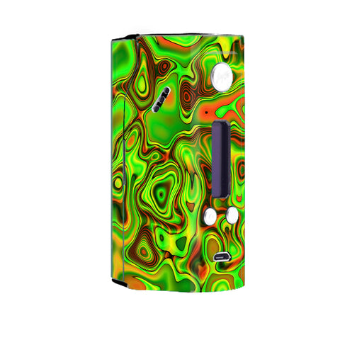 Green Glass Trippy Psychedelic Wismec Reuleaux RX200 Skin