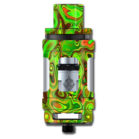 Green Glass Trippy Psychedelic Smok TFV12 Cloud King Beast  Skin